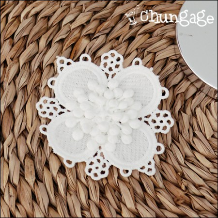 Motif lace flower bugle child
