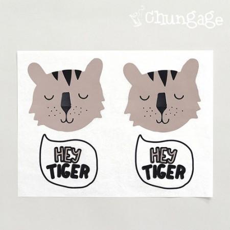 Paper transfer paper Hi Tiger Brown [TP019]