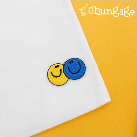 Advanced Embroidery Patch Adhesive Fan Double Smile [69]