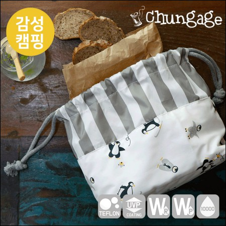 Wide-Emotion Camping Fabric) Penguin Boys [T019]