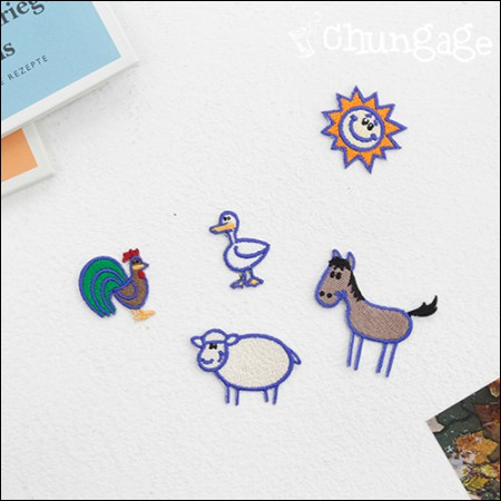 Happy embroidered patch Adhesive Fannan Happy Ranch (5 species) [80]