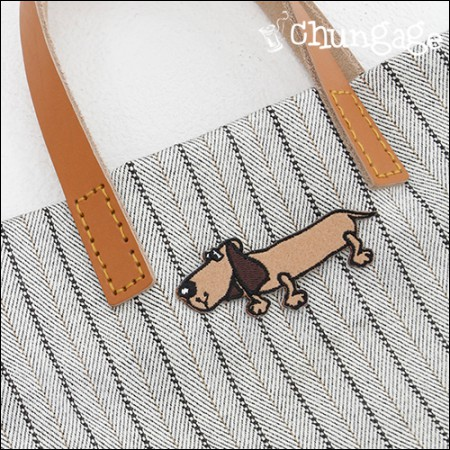 Embroidery Patch Adhesive Pan Dachshund [62]