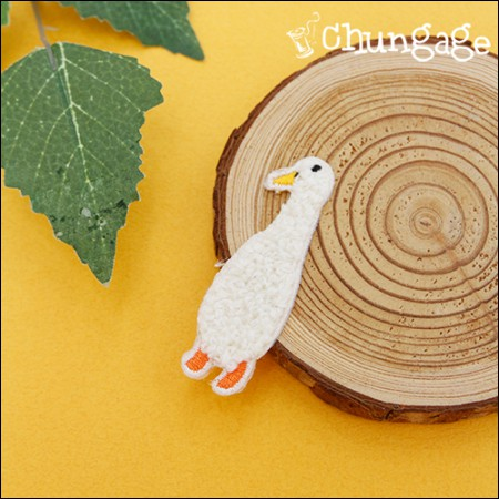 Advanced Embroidery Patch Adhesive Flying Pongle Duck [83]