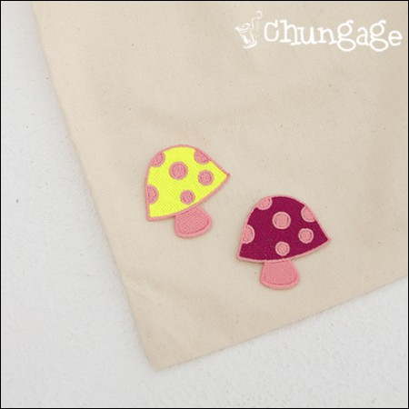 Embroidery Patch Adhesive Fungus Cutie Mushroom (2 species) [61]
