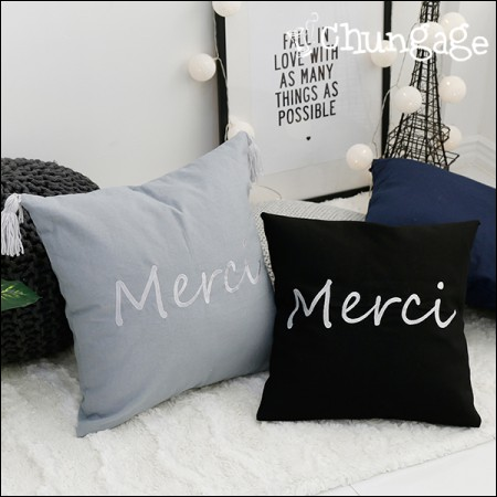 Linen embroidery cut support team Merci (two kinds)