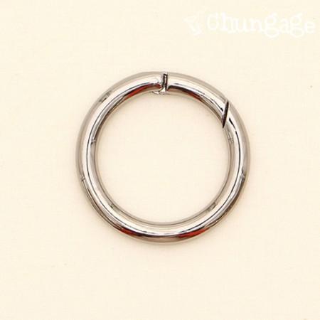 Open key ring 40mm black nickel plating