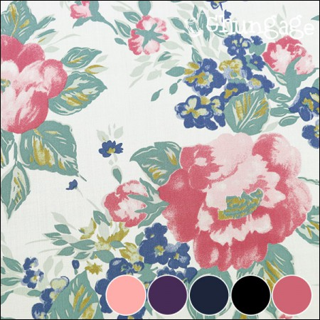 Large-tencel fabric) Peony (5 kinds)
