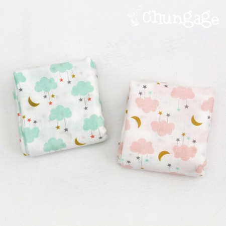 Pure cotton diaper cut ground) cloud star (two kinds)