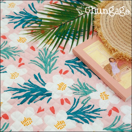 Cotton 20 Horizontal Straight Nouveau Fabric) Hawaiian Blossom