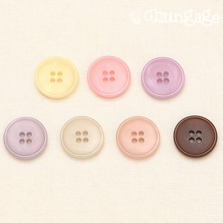 Button CIEL Pastel Mix Button 18mm