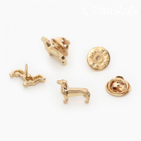 Charming Clash Dog Badge Decoration Gold (3 pieces)