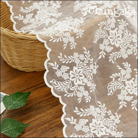 Shawl fabric lace embroidery fabric mesh lace flower bouquet (2 species)