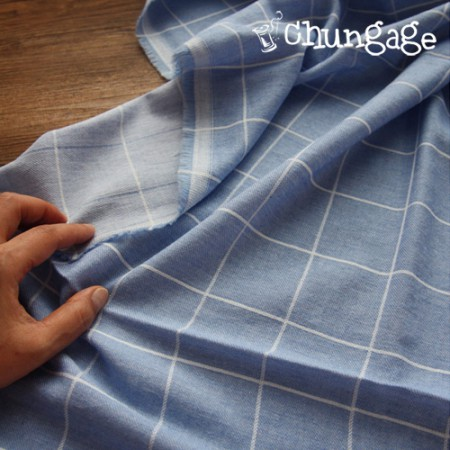 Big -20 can wash dying) Double-sided canceled Vintage Square (Sky)