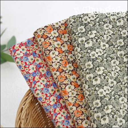 Cotton 20 horizontal weave) Epi flower (3 types)