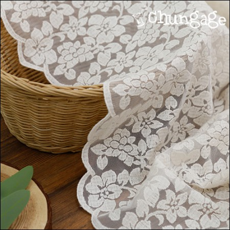 Mesh Fabric Lace Embroidery Fabric Mesh Lace Sulwhasoo (2 types)