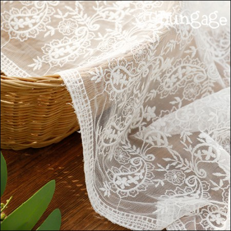 Mesh Fabric Lace Embroidery Fabric Mesh Lace Gourmi (2 types)