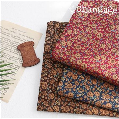 Cotton 20 horizontal weave) Mocha flower (3 types)