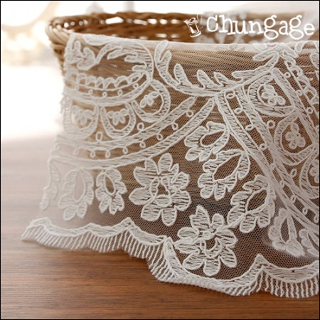 Mesh Fabric Lace Embroidery Fabric Mesh Lace Rapunzel (2 types)