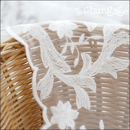 Mesh Fabric Lace Embroidery Fabric Mesh Lace Gloria (2 types)