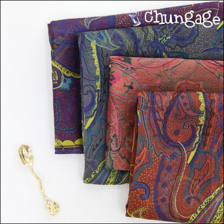 Wide-DTP Polish Chiffon) Deep Paisley (4 types)