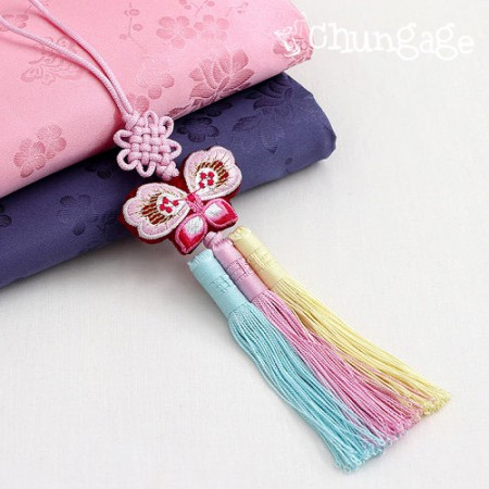 Soother hanbok accessory soother butterfly soother pastel