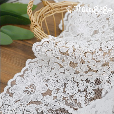 Mesh Fabric Lace Embroidery Fabric Mesh Lace Elysee White Eye