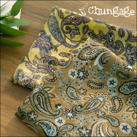 Wide-DTP Polish Chiffon) Golden Paisley (2 types)