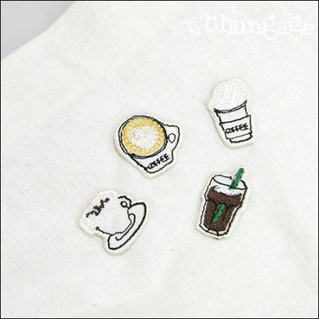 Adhesive Waffle Café Embroidery Patch Waffle (4 types) [089]