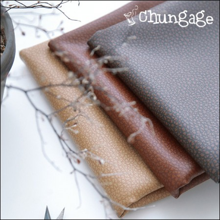 Wide-synthetic leather) soft crack plain fabric (3 kinds)
