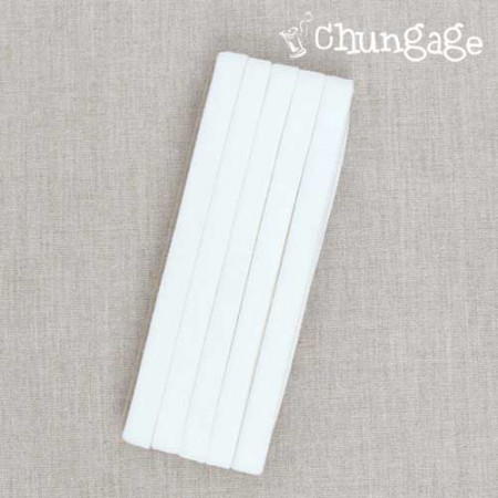 AngAng antibacterial double knit bias tape (whiteivory) [BK4-21]