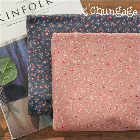 Wide-sewn brushed fabric) Genie flower (2 types)