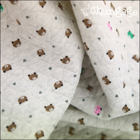 Wide-quilting Daimaru) Mini Bear Oatmeal