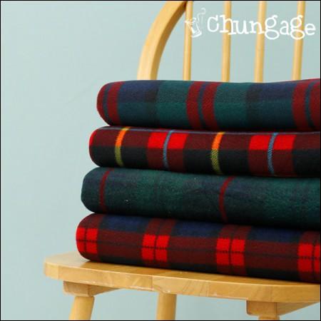 Wide-double polarpolis bonding) Autumn Red Check (4 types)