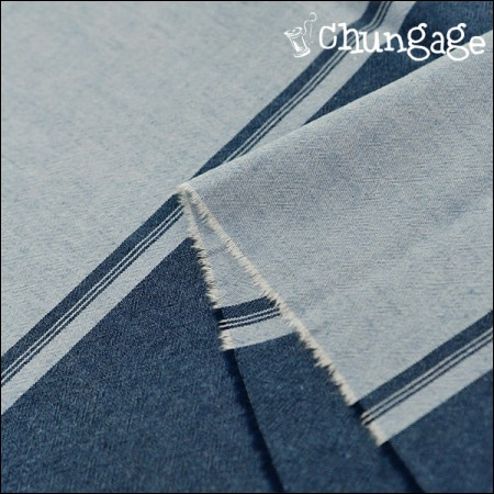 Wide-line dye washing) Marine stripe [4-80]