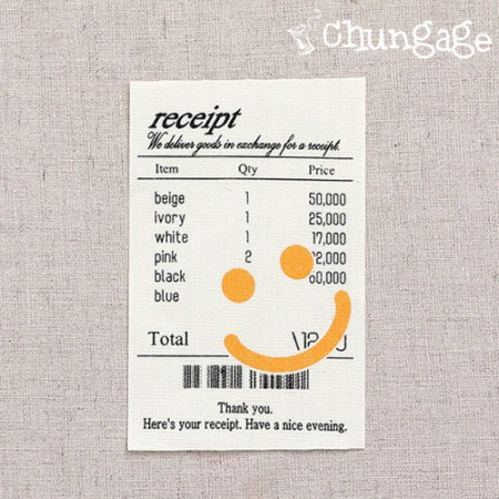 Large Label Smile Recipe Decoration Cotton Label
