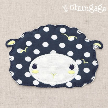 Plush and Pan Polka Dot Sheep Plush and Pen Navy