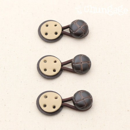 Toggle Button Petit Turtle Toggle Button Brown
