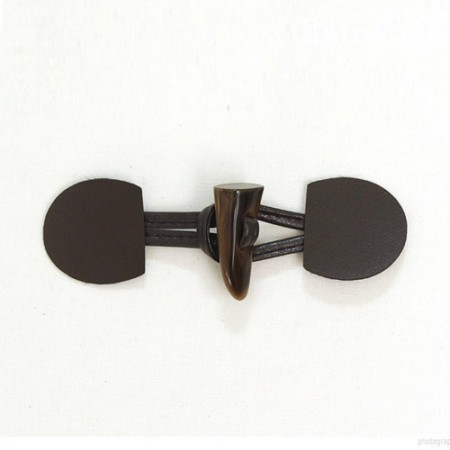 Toggle Button Mini Leather Toggle Button Choco brown