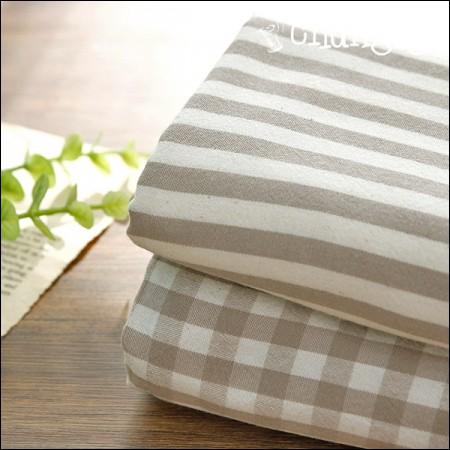 Broadly-dyed cotton fabric) Melange (2 types)