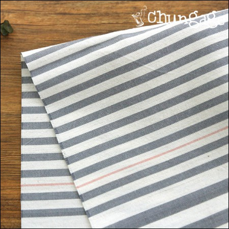 Wide-dyed washing) cookie stripe [4-73]
