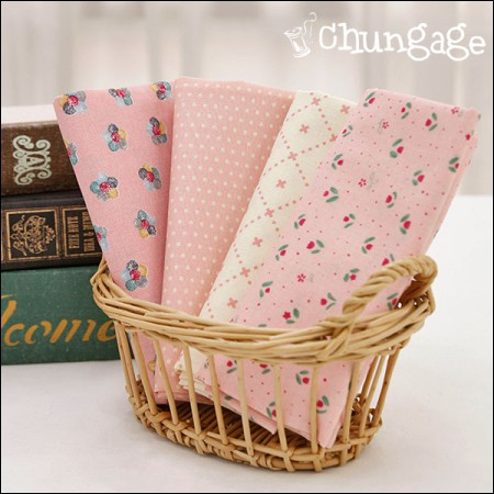 Cotton 20 horizontal weave) Pink dot (4 types)
