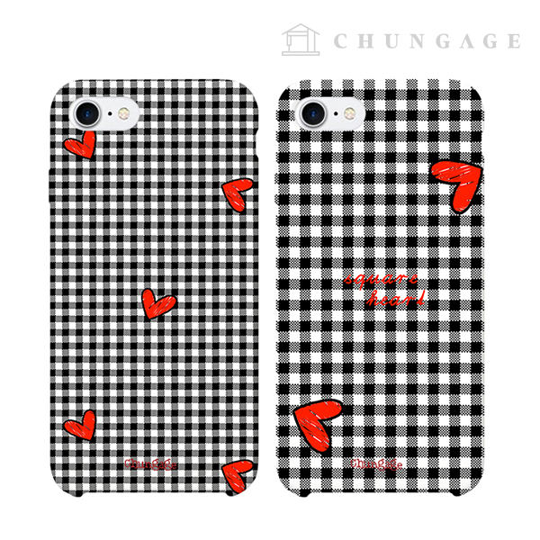 Cell phone case square heart (two kinds) CA008 iPhone Galaxy all models phone case