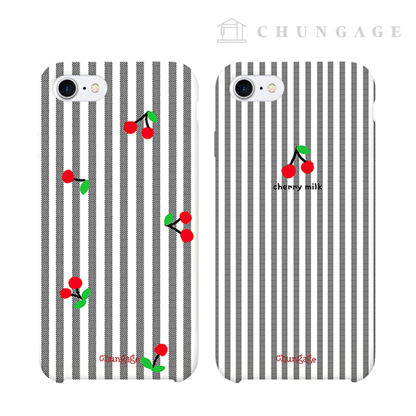 Cell Phone Case Cherry Milk (2 Types) CA016 iPhone Galaxy All Phone Cases
