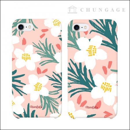 Cellphone Case Hawaiian Blossom (2 types) CA024 iPhone Galaxy All Phone Cases