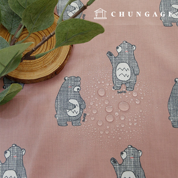 Waterproof Fabric Non-toxic TPU Laminate Fabric Chess Bear