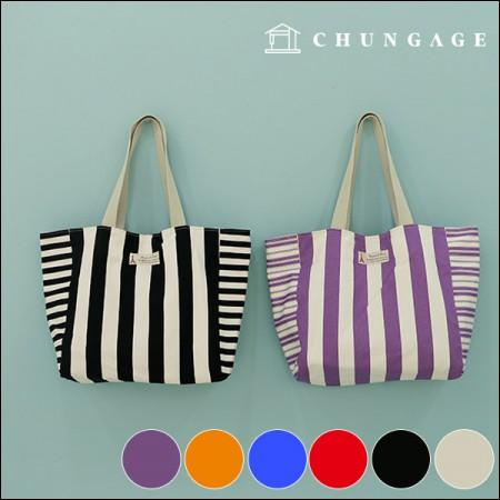 Wide-Canvas) Vivid stripe 3cm (six kinds)