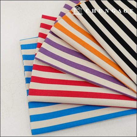 Wide-Canvas) Vivid Stripe 1.2cm (5 types)