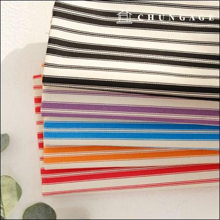 Wide-Canvas) Vivid stripe 2cm (five kinds)