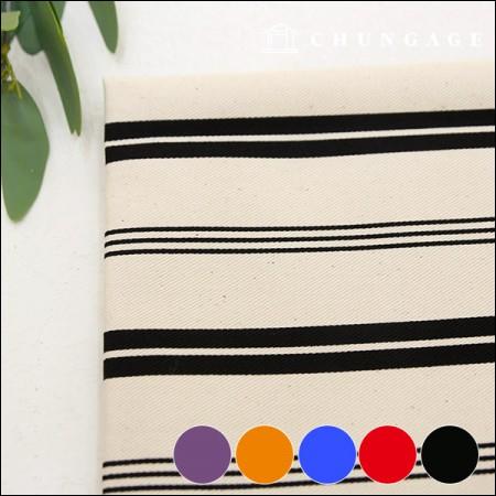 Wide-Canvas) Vivid stripe 1.6cm (five kinds)