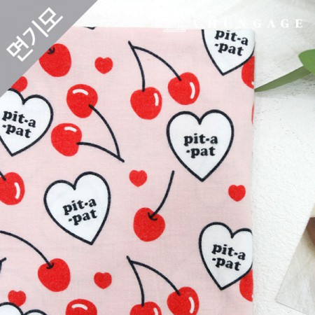 Cotton brushed microfiber fabric heart signal